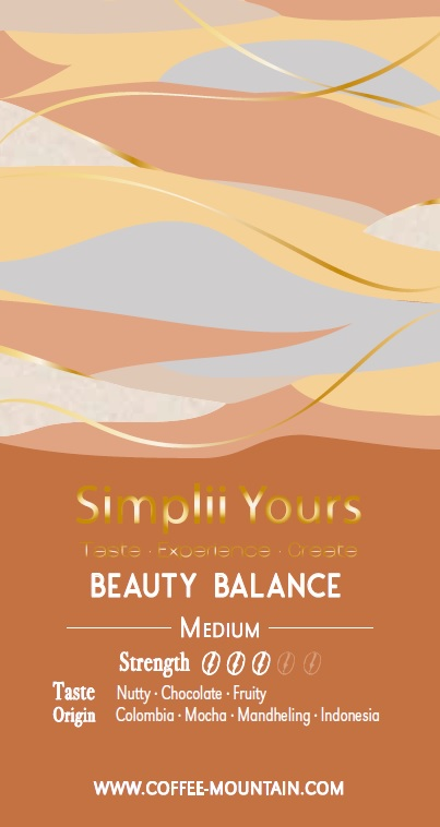 coffee bean - Beauty Balance label