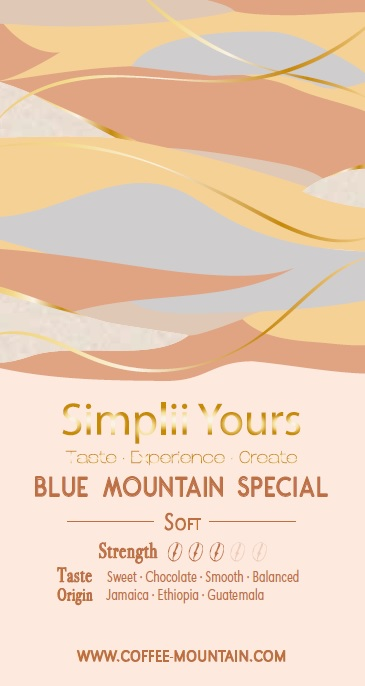 coffee bean - Blue Mountain Special label