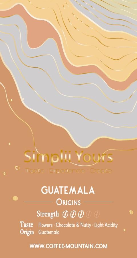 coffee bean - Guatemala label