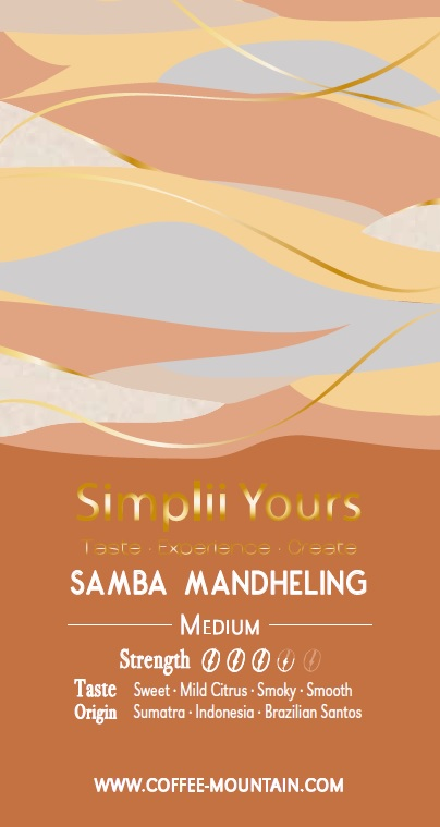coffee bean - Samba Mandheling label