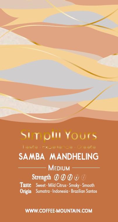 coffee bean - Samba Mandheling label