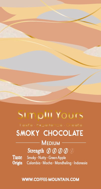 coffee bean - Smoky Chocolate LABEL