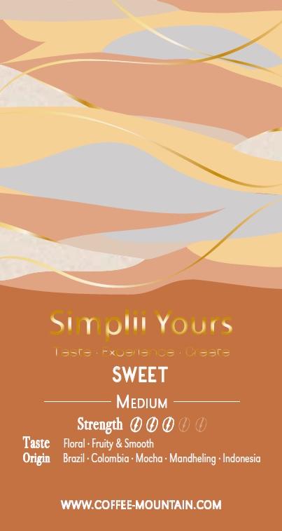 coffee bean - Sweet label