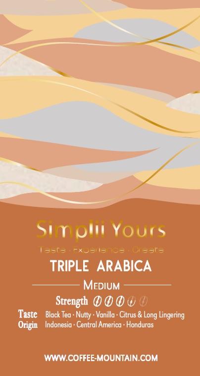 coffee bean - Triple Arabica label