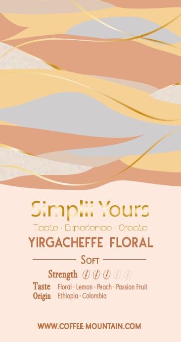 coffee bean - Yirgacheffe Floral label