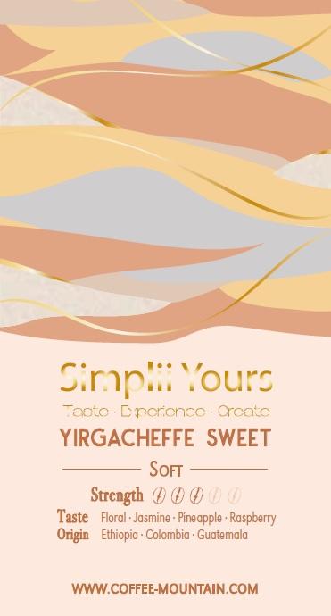 coffee bean - Yirgacheffe Sweet label