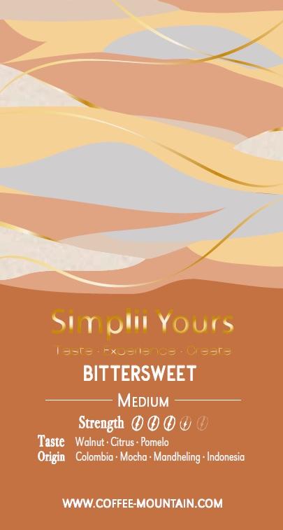 coffee bean - bittersweet label