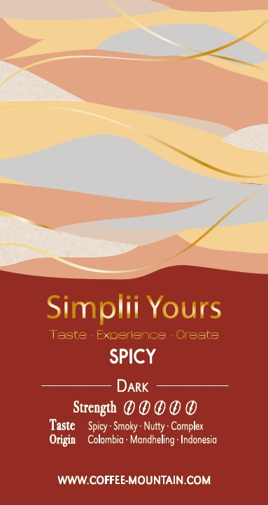 coffee beans - spicy label