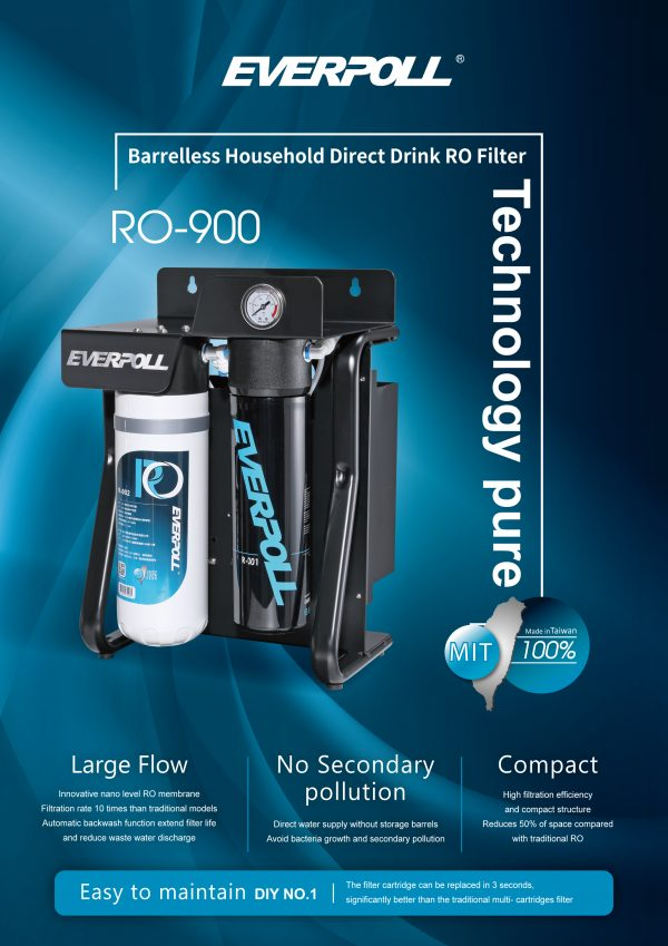 EVERPOLL RO-900 Reverse Osmosis Filtration System 1