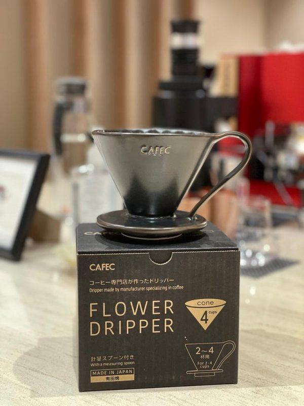 CAFEC Flower Dripper - Mat-black 1